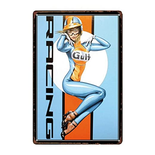 Gulf Racing Póster De Pared Metal Retro Placa Cartel Cartel ...
