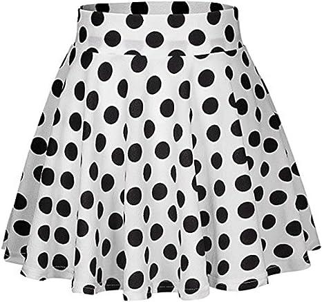LianMengMVP - Falda de Lunares para niña, Tipo Rock n Roll, Estilo ...