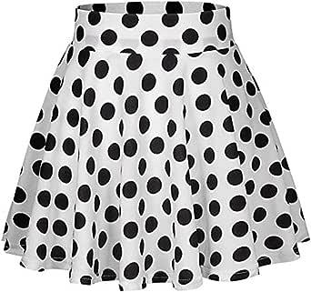 Lenfesh Moda Faldas Cortas Mujer Verano Falda Cóctel Estampado a ...