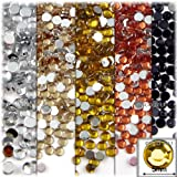 The Crafts Outlet The Crafts Outlet 5-Pack Set (5X - 144-Piece), Round 5mm Rhinestones, flatback, Yellow Tones