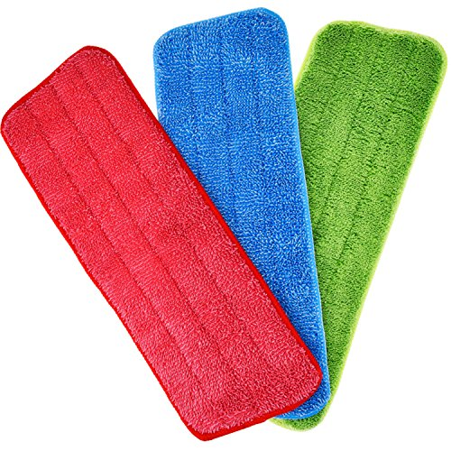 TecUnite 6 Pieces Microfiber Cleaning Pads Reveal Mop 16 to