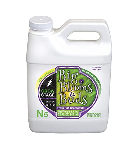 Amazon com : Big Blooms & Buds N5 Liquid Fertilizer Concentrate - 32