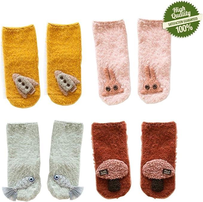 Morbuy Calcetines de Algodón Para Bebé Niños, 4 pares Caliente ...