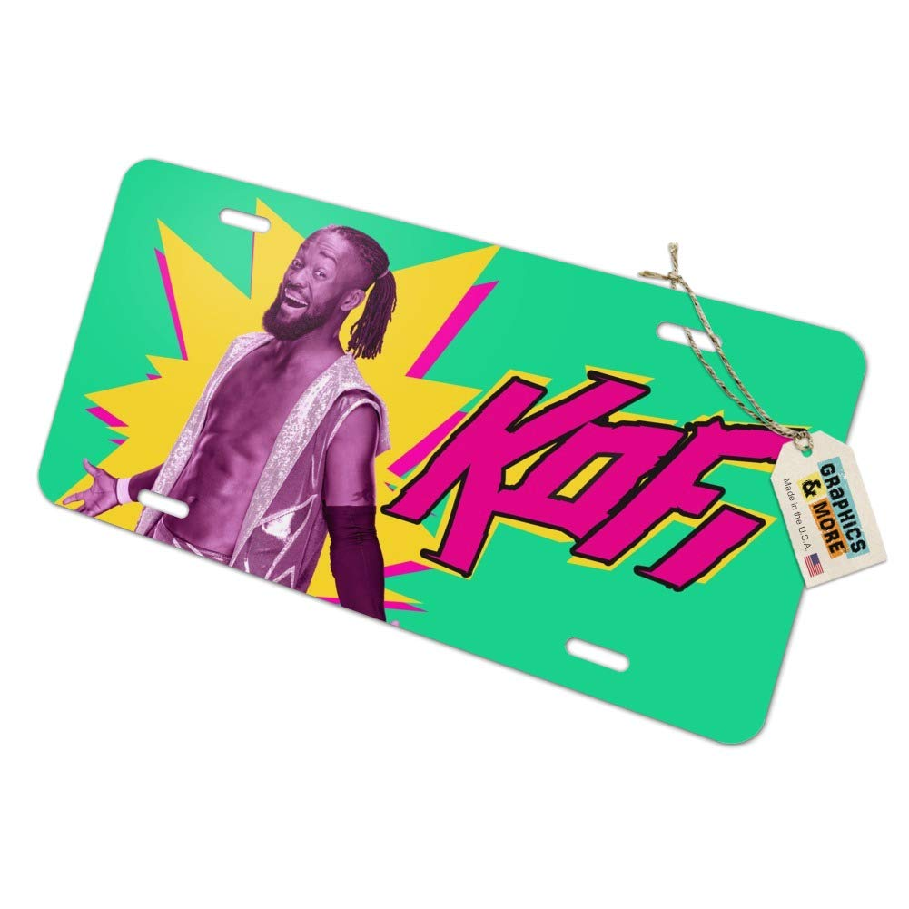Graphics and More WWE Kofi Kingston Novelty Metal Vanity Tag License Plate