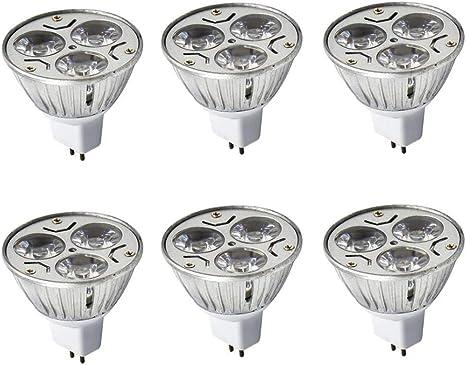 JKLcom MR16 LED Light Bulbs GU5.3//MR16 Base Warm White 3W LED Spotlight Bulbs for Landscape Lighting Recessed Lighting Track Lighting,Equivalent 20W Halogen,Pack of 4