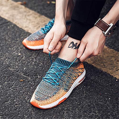 Outdoor Sneaker da Corsa Ammortizzazione Scarpe LIEBE721 Arancione da Flying Uomo Traspirante Fashion Sportive Weaving Scarpe Training Casual Antiscivolo aOqwESq