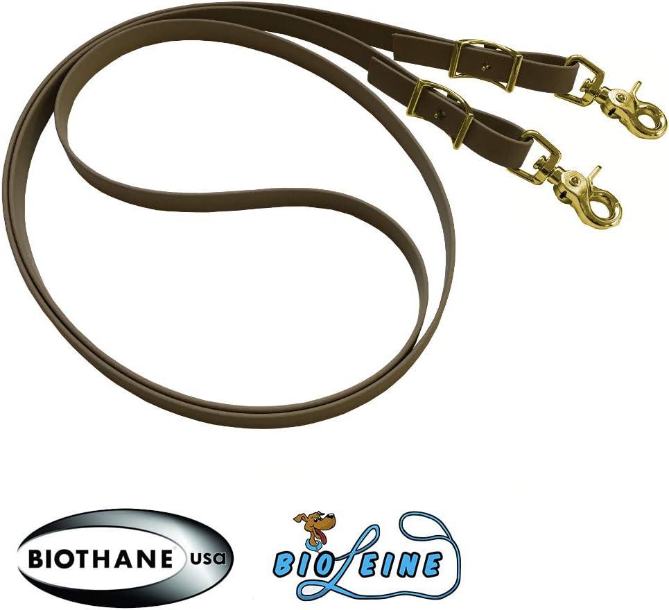 Bio de Cuerda Cerrados riendas Suciedad y wasserabweisend16/mm de Ancho de Beta biothane/® purasangre de selecci/ón de 21/Colores y 3/Longitudes Pony mediasangre
