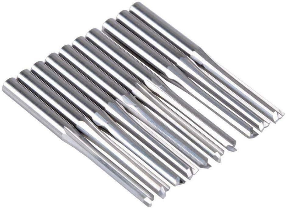 10 St/ück EU/_HOZLY 3,175 mm CED 2,5 mm gerade Schlitz-Bit Holzschneider CNC Vollhartmetallfr/äser