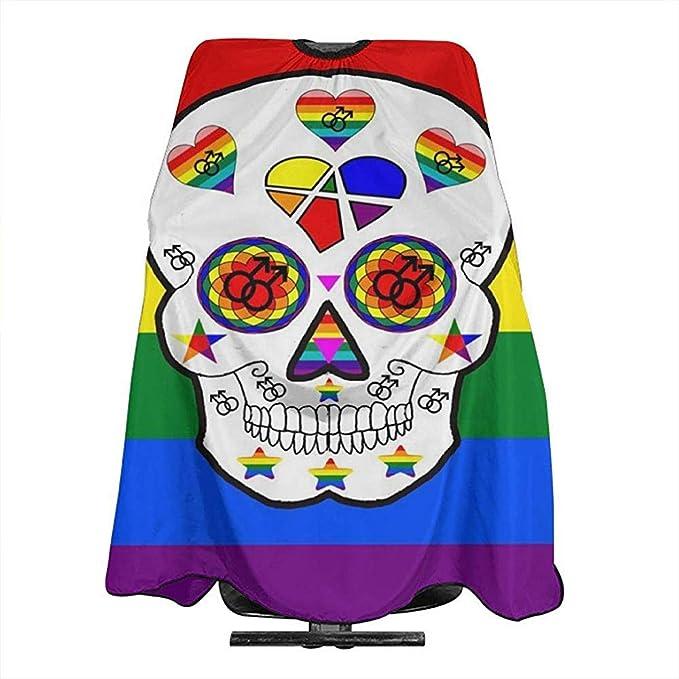 Capa De Peluquería Orgullo Gay Orgullo Cráneo Corte De ...