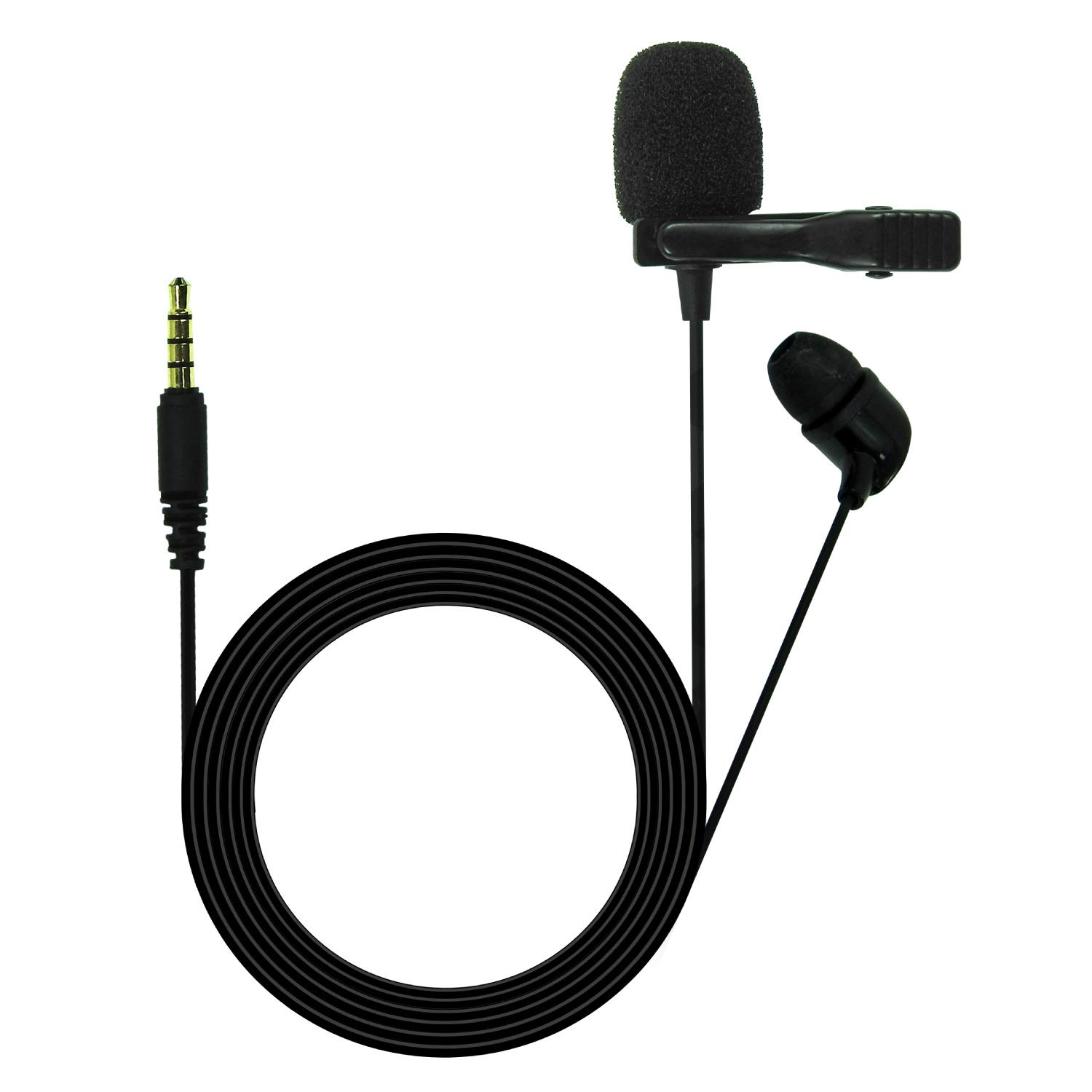 JBL Commercial CSLM20 Omnidirectional Lavalier Microphone, Earphone for calls, Video Conferences, and Monitoring