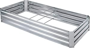 zizin Raised Garden Beds Kit for Vegetables Flowers Outdoor Elevated Metal Planter Box Herb, 6x3x1ft