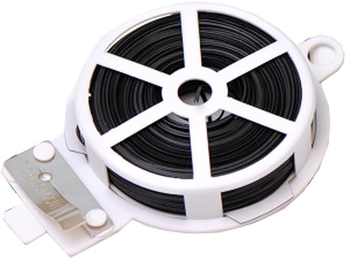 HLHome 50 m versátil de metal para cables, dispositivo de línea, para el hogar, la cocina, las bridas de cables de la bolsa de alimentos de sellado de cables de la tira de la cuerda (1 unidad, negro)