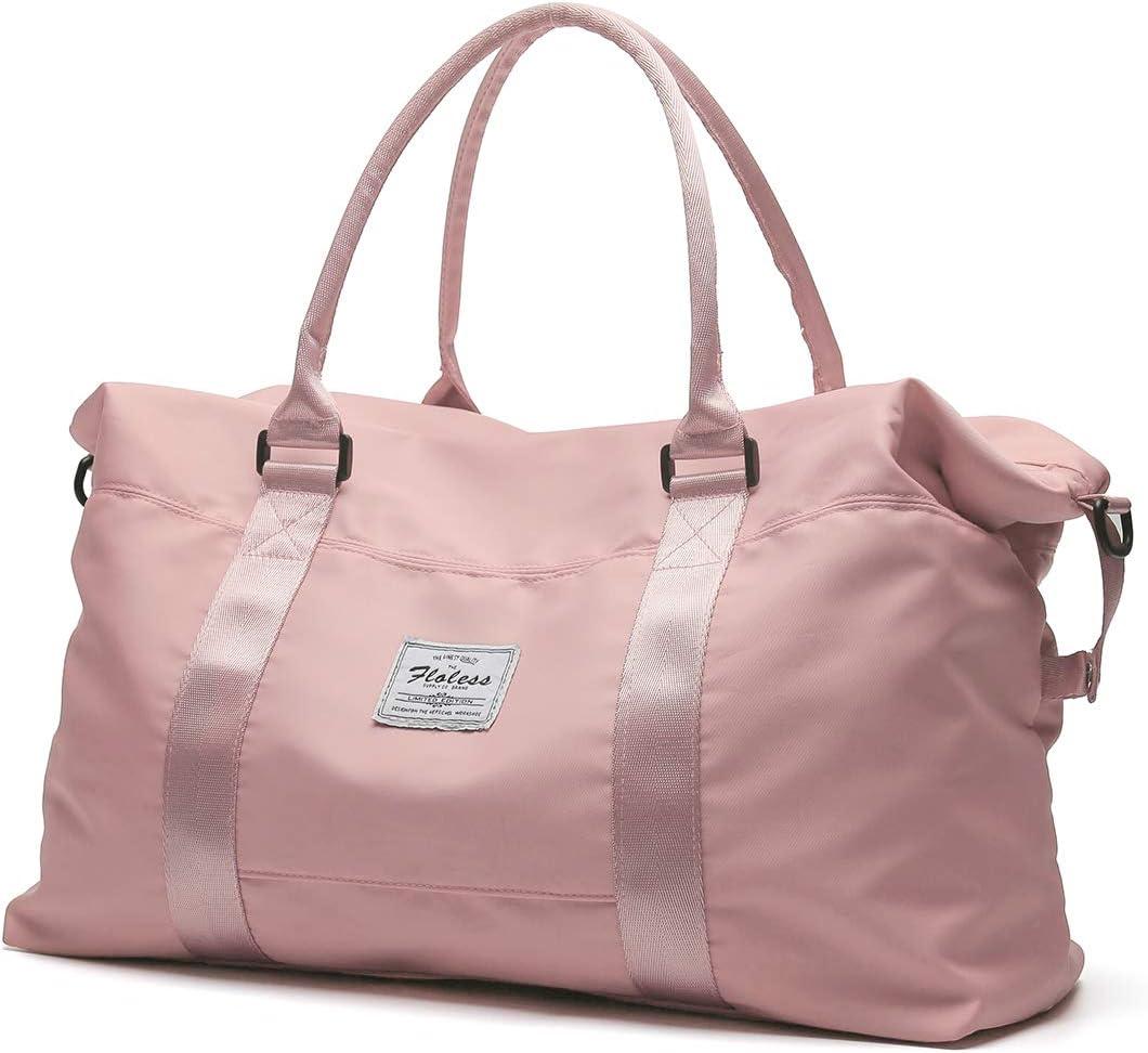 Unisex Travel Duffel Weekender Bag Unisex Weekend Overnight Travel Bag Waterproof Travel Flight Bag for Men Women Gym Sports Duffel Luggage Holdall Tote Bags Handbag Shoulder Bags Gym Tote Bag Carry-o