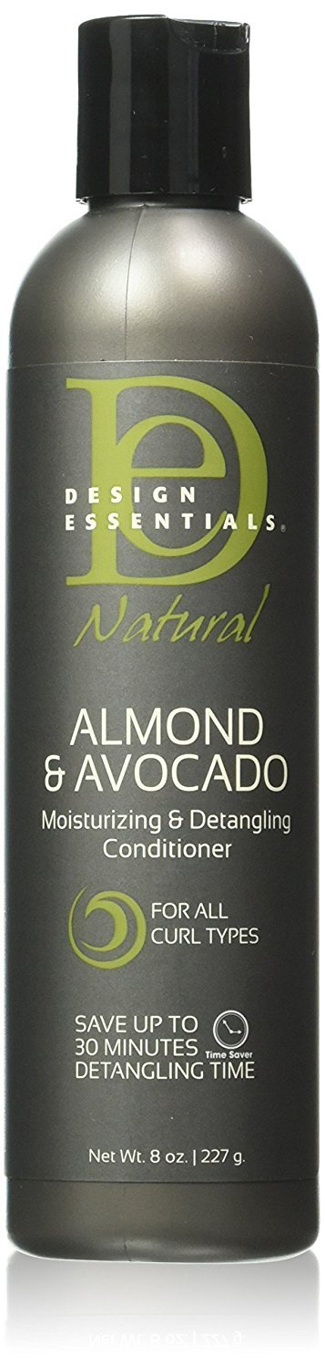 Design Essentials Natural Moisturizing & Super Detangling Sulfate-Free Conditioner with Natural Shea Butter and Coconut Milk-Almond & Avocado Collection, 8oz. by Design Essentials (Image #1)