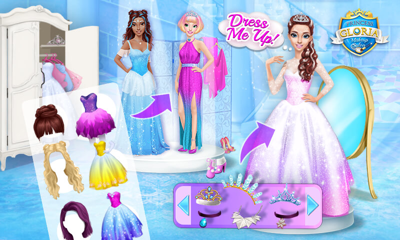 princess gloria makeup salon best friends spa appstore for android