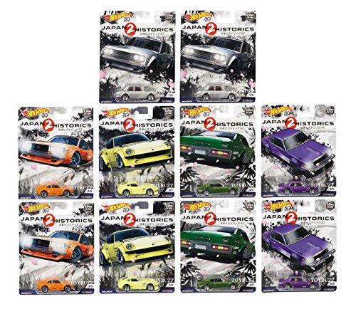 Hot Wheels Kids Bedding - Hot Wheels 1:64 Car Culture Japan Historics 2 - Case of 10