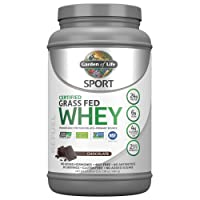 Garden of Life Sport Certified Grass Fed Clean Whey Protein Isolate, Chocolate,...