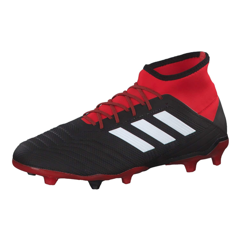 Black (Cblack Ftwwht Red Cblack Ftwwht Red) adidas Men's Predator 18.2 Fg Footbal shoes