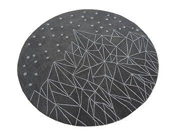 Amazon q moderne einfache runde teppich wohnzimmer