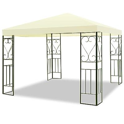 Tangkula 10'x10' Patio Gazebo Canopy Tent Steel Frame Shelter Awning (Beige) : Garden & Outdoor