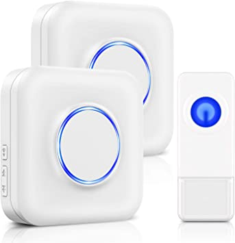 300M Range Wireless doorbell Front Door Bell and Bell Button with LED Display Plug-in for The Socket 58 melodies Front Door Bell Doorbell Wireless doorbell Outside Waterproof