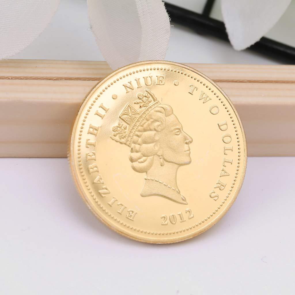 Moneda Conmemorativa China koi Pescado Lucky Souvenir Regalo colecci/ón para Recuerdo cicianco New Niue Island