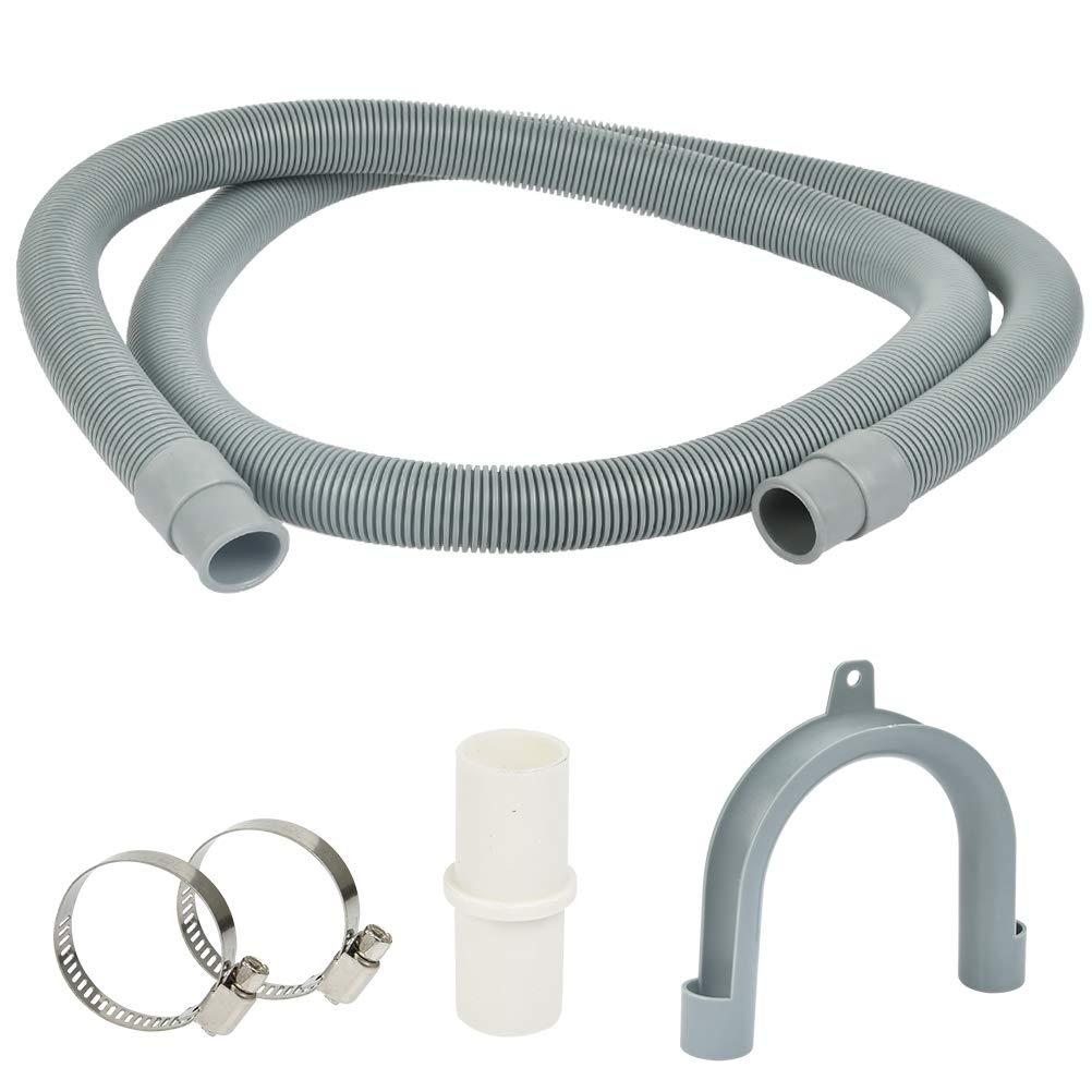 1,5 m tuyau dextension, raccord droit, diam/ètre int/érieur 20 mm FOROREH Rallonge de tuyau de vidange pour tuyau de lave-linge