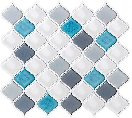 28x25cm 3D Piastrelle Adesivi Mattonelle Sticker Adesivo da Muro per Cucina//Bagno-4 Pezzi FAM STICKTILES Adesivi per Piastrelle