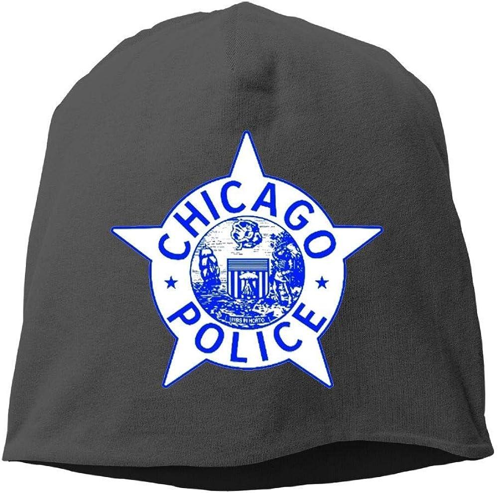 Jia3261 Chicago Police Logo Pride Winter Beanie Skull Cap Warm Knit Ski Slouchy Hat Durable
