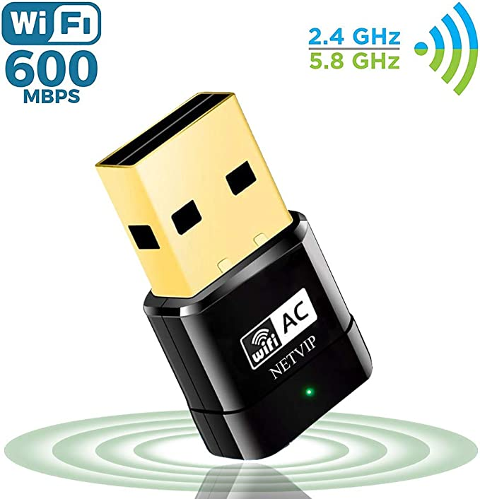 NETVIP Adaptador WiFi 5GHz Tarjeta Red WiFi Receptor WiFi USB ...