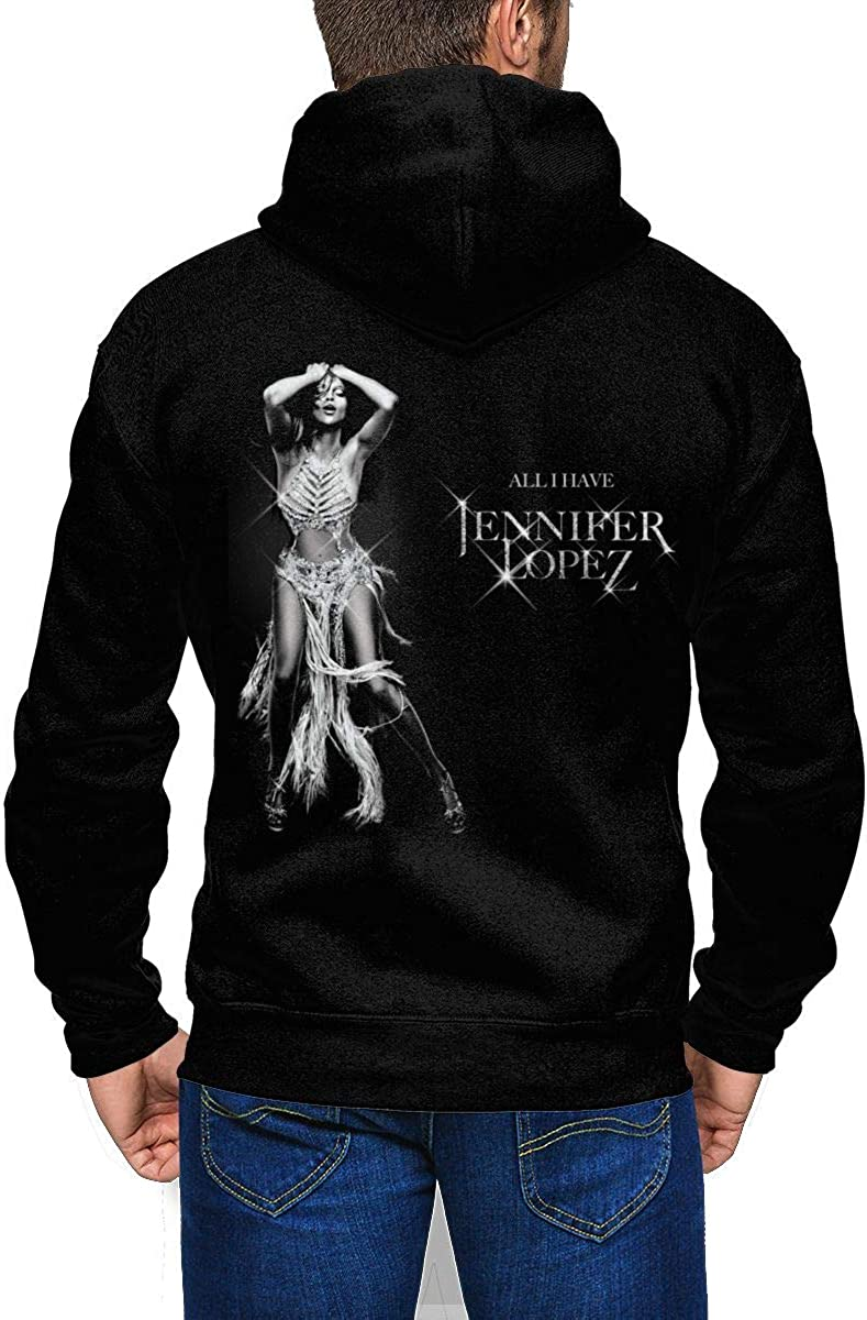 Jennifer Lopez Mens Fashion Full Zip Sweatshirt