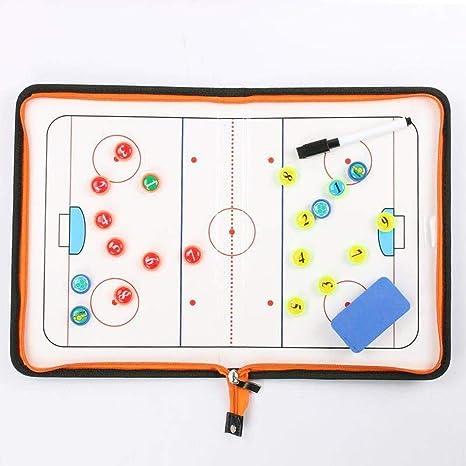 BEYONDTIME Hockey sobre Hielo Junta De Táctica Magnética De Táctica Junta Entrenador Entrenamiento Árbitro Juego De Tablero De Entrenamiento Suministros A: Amazon.es: Deportes y aire libre