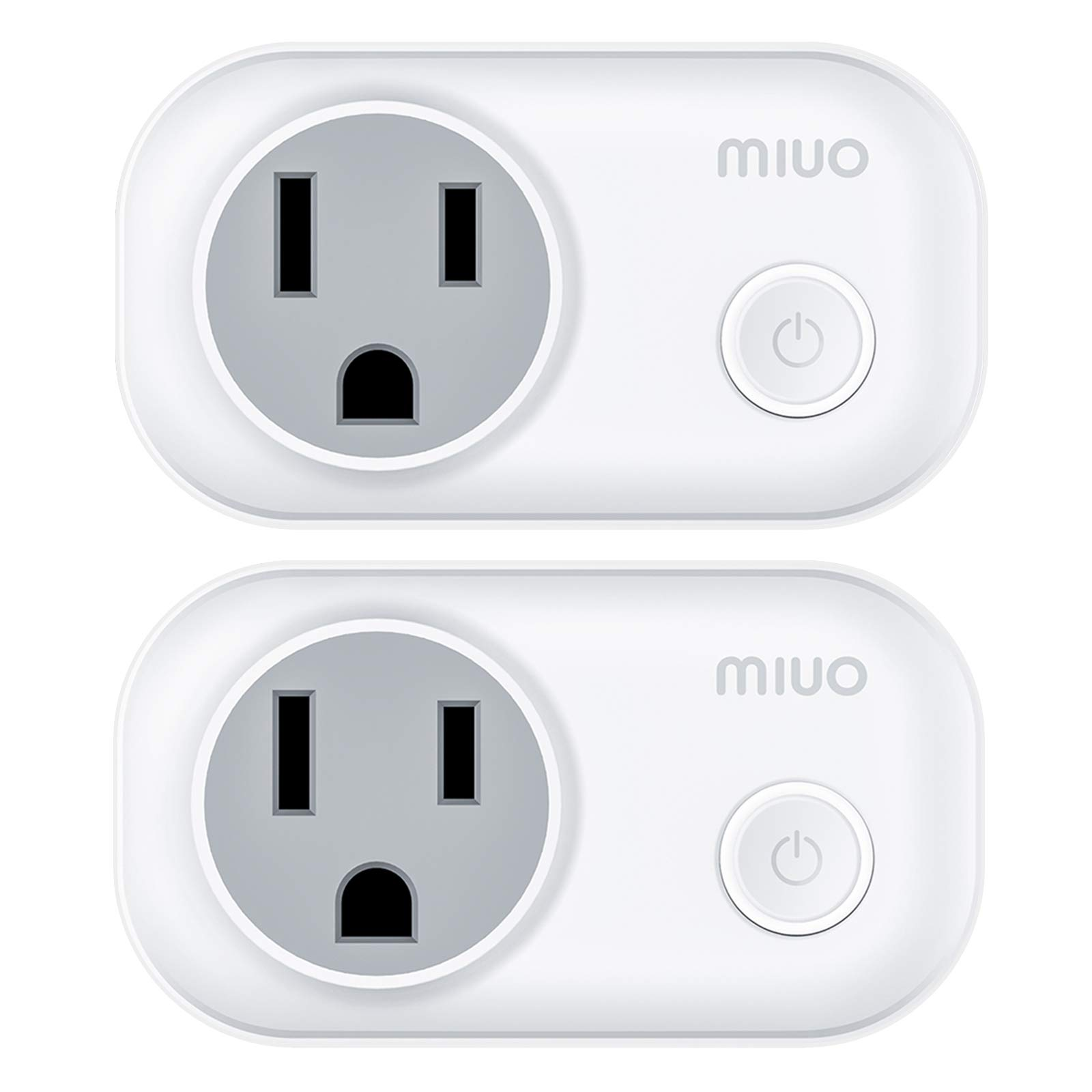 MIUO 2 Pack Smart Plug Socket Energy Monitoring Works with Amazon Alexa and Google Assistant Timer Function Mini Smart WIFI Plug Outlet