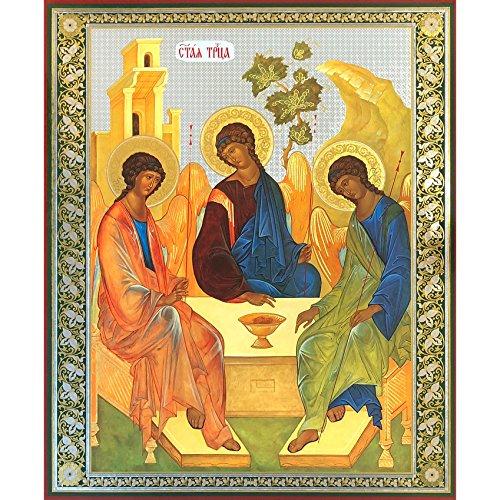 Russian Orthodox Holy Trinity Icon Old Testament Trinity Rublev 15 7/8 Inch