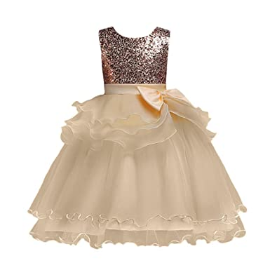 2f131865afa08 Kobay Girls Sleeveless Bow Sequins Lace Dress Mesh Tutu Dress,Floral ...