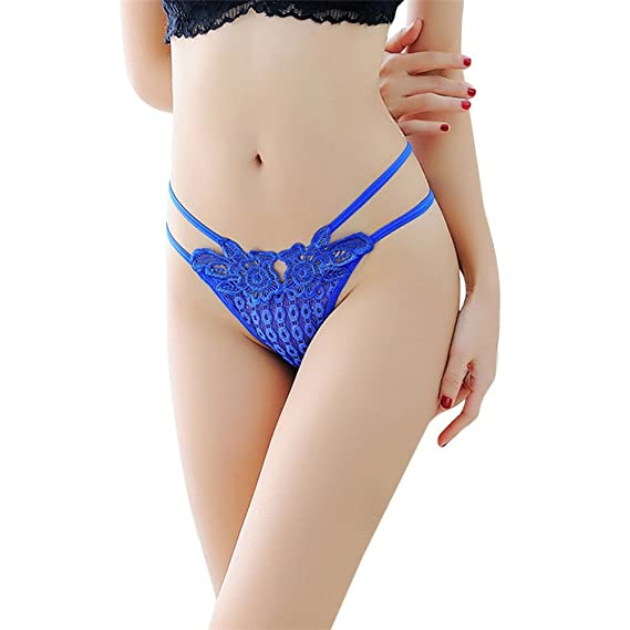 1de3053f25a Nacome Women's Sexy Lace G-String Lingerie Bragas Thong Hollow Out Briefs  Size: Free
