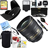 Nikon 2184 24mm F/1.4G ED AF-S Wide-Angle Lens + 64GB Ultimate Filter & Flash Photography Bundle