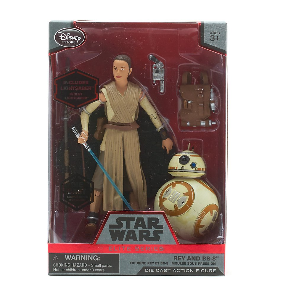 Star Wars:Elite Series Die-Cast 6Figure, Rey with Lightsaber and BB-8 by Disney