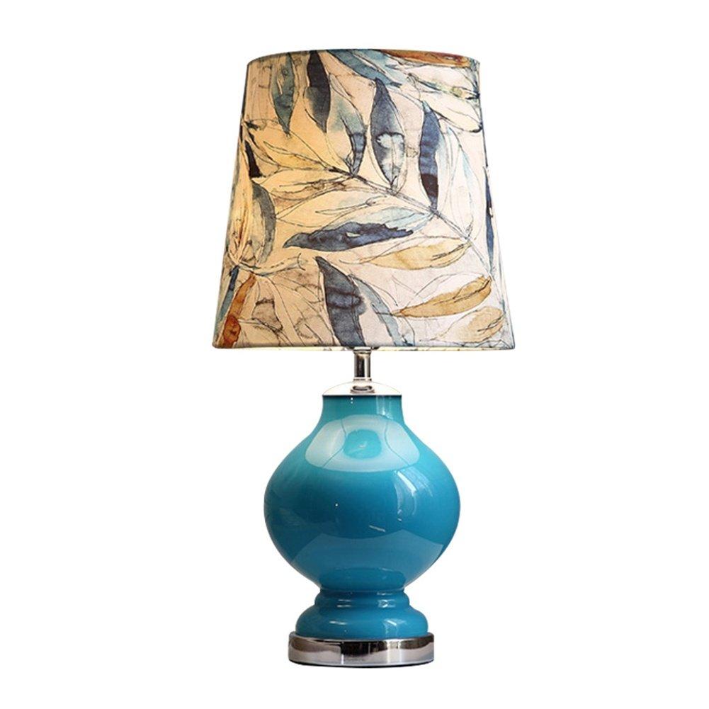 Light-Art Grande Lampada da Tavolo dimmerabile in Ceramica Orientale - Stile Cinese Mandarino Perfetto per Tutti i soggiorni e Le camere da Letto - qualità superba [Classe energetica A ++]