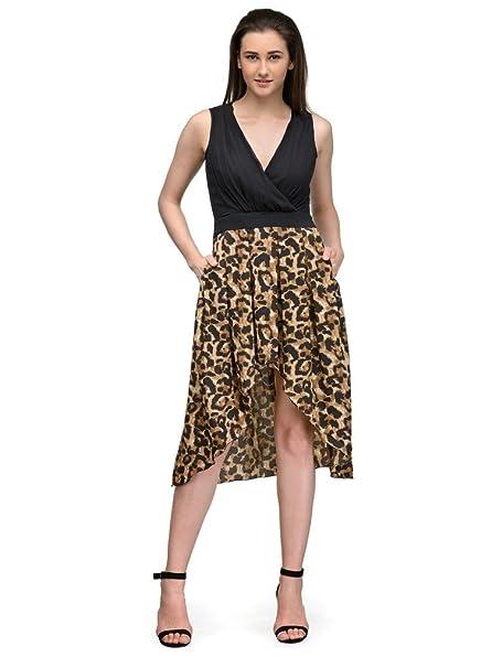 Animal Print High Low Dress at Amazon
