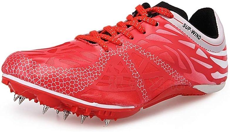 FJJLOVE Pista y Campo Zapatos, Antideslizante Ejecución Medio de Formación Zapatillas de Deporte al Aire Libre y Cortocircuito de los Zapatos Corrientes de los Deportes para Mans Womans,Rosado,40: Amazon.es: Hogar