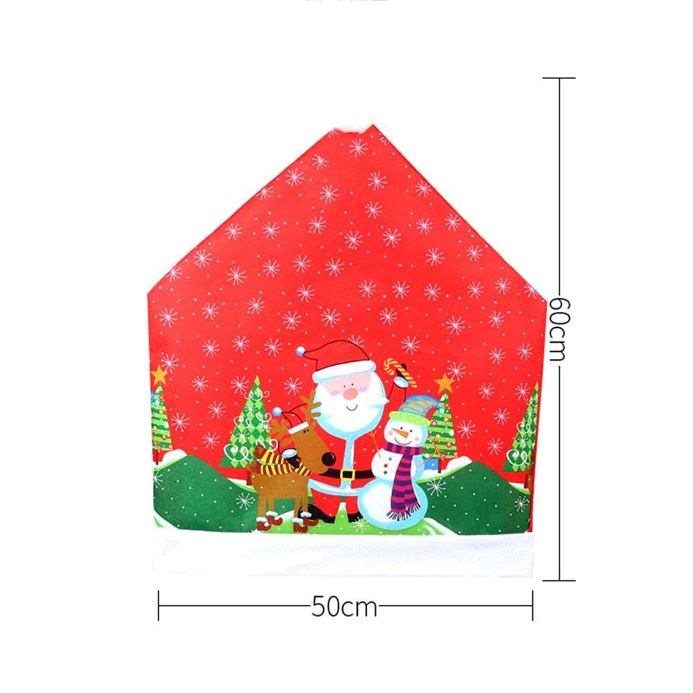 Thrivinger 4 PCS Christmas Chair Cover Santa Hat Fundas para Sillas Silla Decoraci/ón Trasera Navidad Festiva Home Dinner Table Kitchen Party Decor