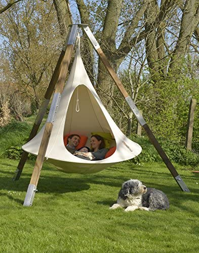 Cacoon Double swinging tent lounge chair hangout pod for 2 adults Hanging tree rope swing round seat lounger daybed bed hammock for indoor or outdoor use Share your own private world