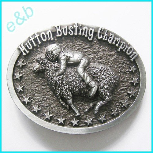 Brand:e&b Mutton Busting Champion Sheep Riding Enameled B...