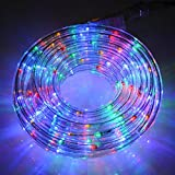 NEW MULTI COLOURED OUT/INDOOR 10M MAINS POWERED ROPE LIGHTS HOME WORK XMAS PARTY