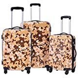Travel Luggage Set 3 Pcs ABS+PC Trolley Suitcase With Code Lock With Ebook