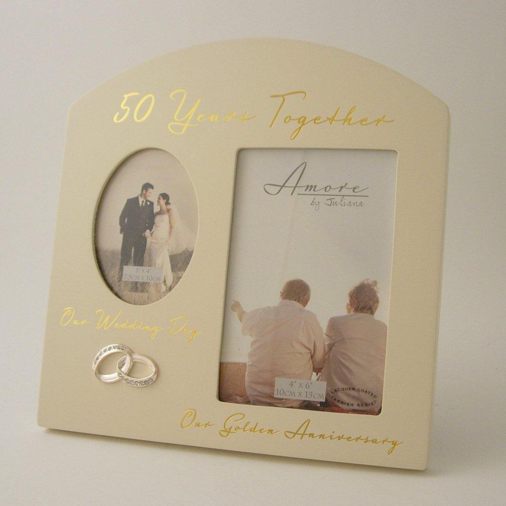 50 años juntos bodas de oro (50º Aniversario doble marco de fotos ...