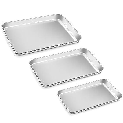 """ackmond compacto de acero inoxidable Tostadora horno bandeja de pan horno. Profesional, 8 """""""