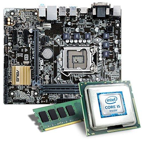 Intel Core i5-6600K / ASUS H110M-A Mainboard Bundle / 8192 MB | CSL PC Aufrüstkit | Intel Core i5-6600K 4x 3500 MHz, 8192 MB DDR4-RAM, Intel HD Graphics 530, GigLAN, 7.1 Sound, USB 3.0 | Aufrüstset | PC Tuning Kit