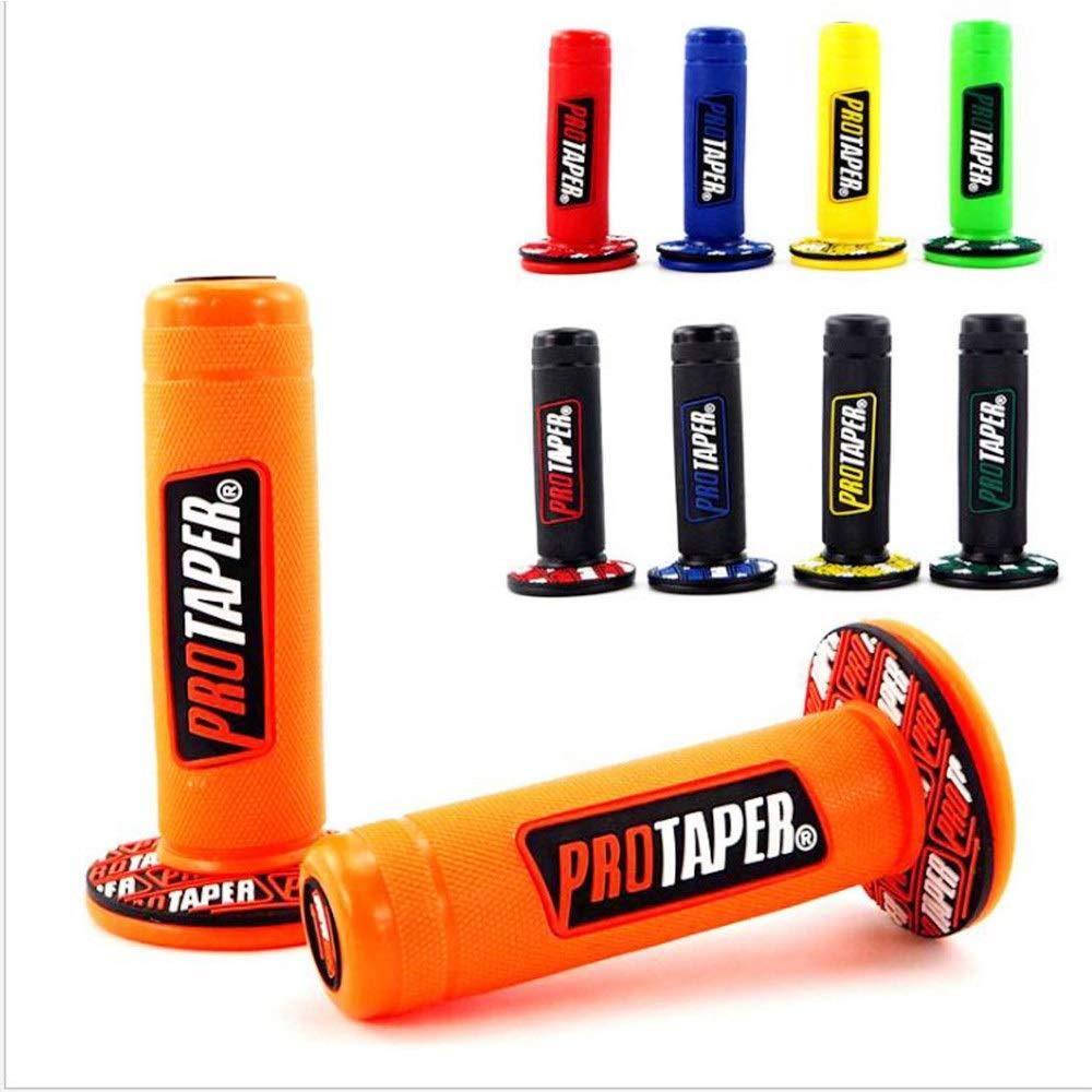 Farbe : Biack-red Motorrad Protaper Grips Motocross Grip Lenker Dirt Pit Bike 7//8Lenker Gummi Gel Dual Density MX Grips Cyclist store